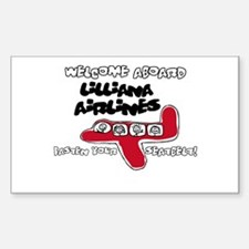 Lilliana Airlines Rectangle Decal