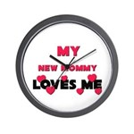 My NEW MOMMY Loves Me Wall Clock