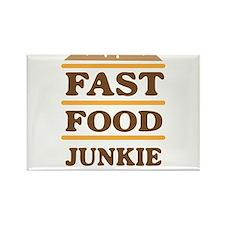 Fast food junkie Magnets