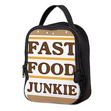 Fast food junkie Neoprene Lunch Bag