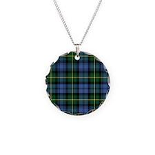 Tartan - Gordon Necklace Circle Charm