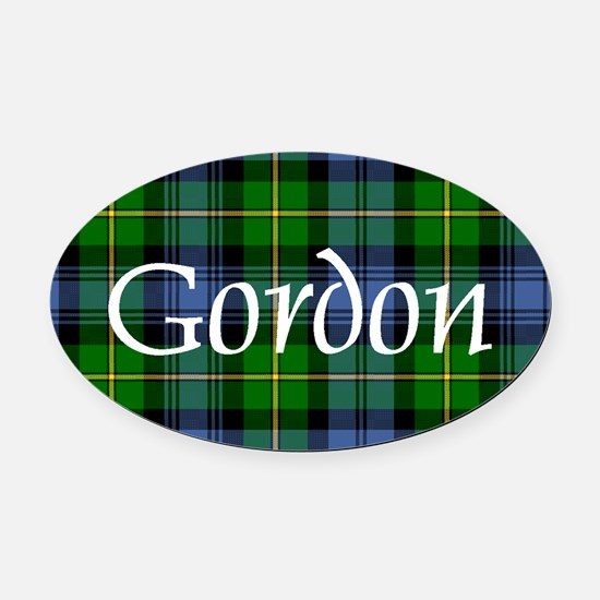 Tartan - Gordon Oval Car Magnet
