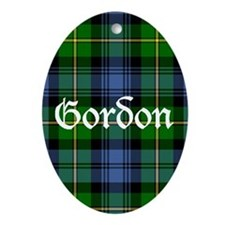 Tartan - Gordon Ornament (Oval)