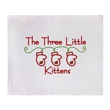Three Little Kittens Throw Blanket