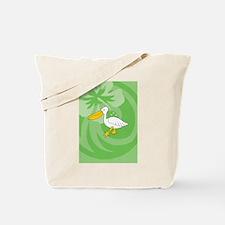 Cute Pelican beach resort Tote Bag