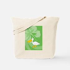 Funny Pelican beach resort Tote Bag