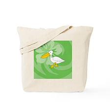 Cute Pelican boats Tote Bag
