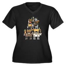 Acrobatic Pets Plus Size T-Shirt