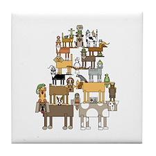 Cute Ferret design Tile Coaster