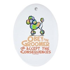 Obey The Groomer Ornament (Oval)