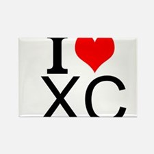 I Love Cross Country Magnets