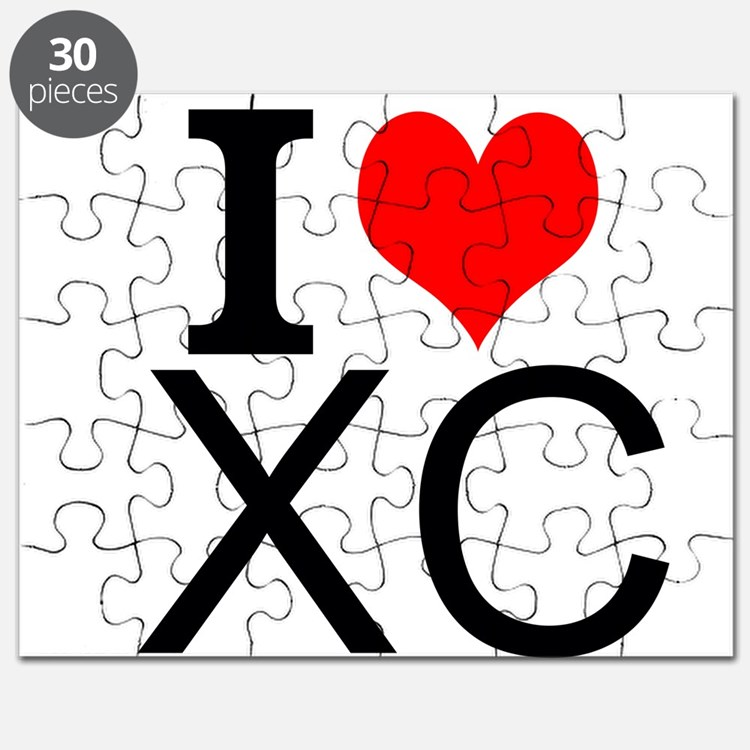 I Love Cross Country Puzzle