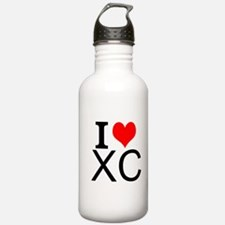 I Love Cross Country Water Bottle