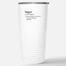 Funny vegan definition Travel Mug
