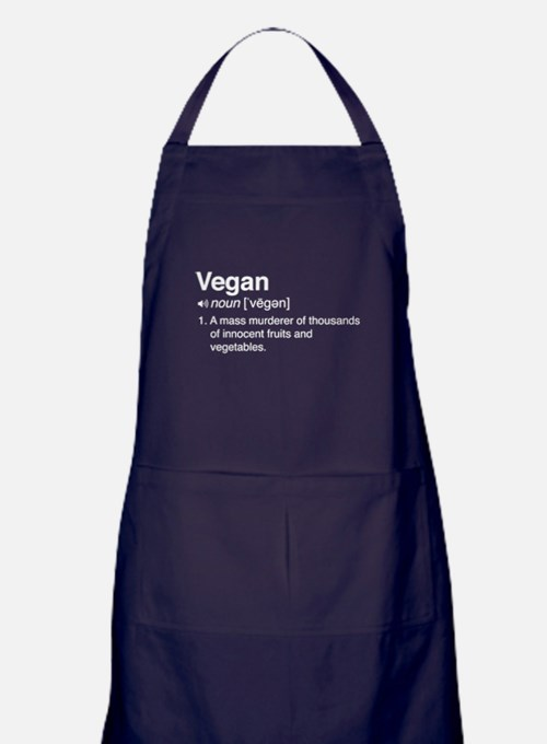 Funny vegan definition Apron (dark)