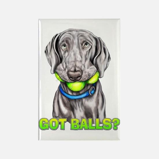 Weimaraner Got Balls? Rectangle Magnet