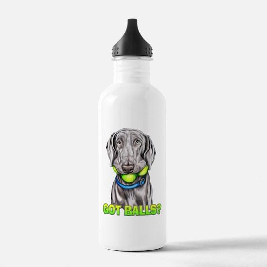 Weimaraner Got Balls? Water Bottle