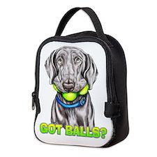 Weimaraner Got Balls? Neoprene Lunch Bag