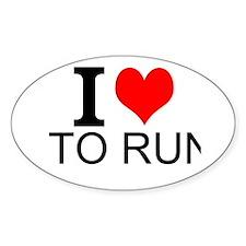 I Love To Run Decal
