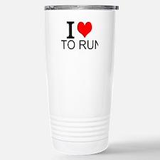 I Love To Run Travel Mug
