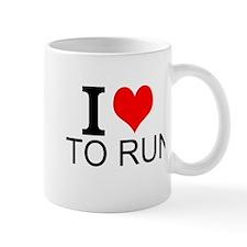 I Love To Run Mugs