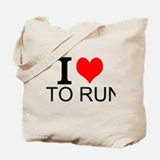 I Love To Run Tote Bag