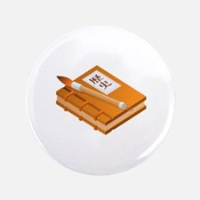 """Chinese Character Books Pencil 3.5"""" Button"""
