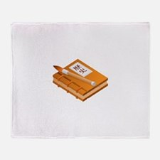 Chinese Character Books Pencil Throw Blanket