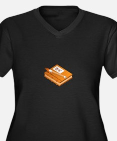 Chinese Character Books Pencil Plus Size T-Shirt