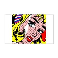 Popart Girl Wall Decal