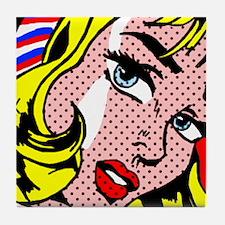Popart Girl Tile Coaster