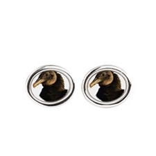 Funny Blues vultures Oval Cufflinks