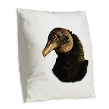 Cool Blues vultures Burlap Throw Pillow
