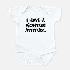 WONTON attitude Infant Bodysuit
