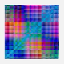 Rainbow Quilt Tile Coaster
