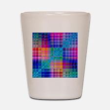 Rainbow Quilt Shot Glass
