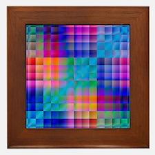 Rainbow Quilt Framed Tile