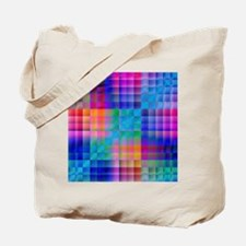 Rainbow Quilt Tote Bag