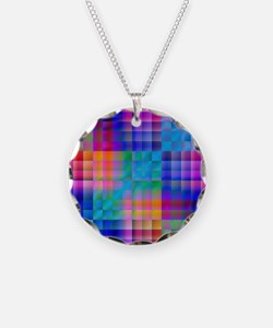 Rainbow Quilt Necklace
