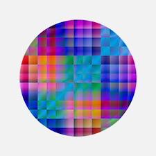 """Rainbow Quilt 3.5"""" Button"""