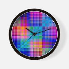 Rainbow Quilt Wall Clock