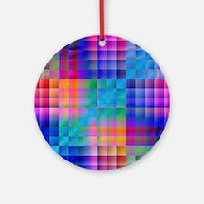 Rainbow Quilt Round Ornament