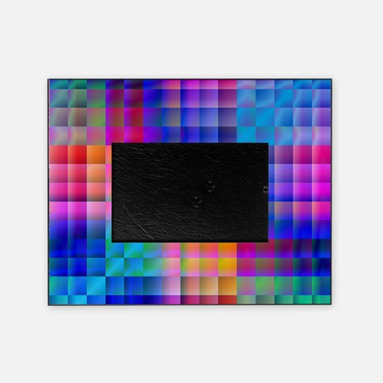 Rainbow Quilt Picture Frame