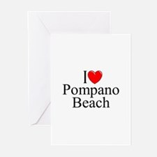 """I Love Pompano Beach"" Greeting Cards (Package of"