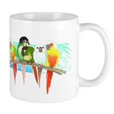 Green Cheek Conures Mugs
