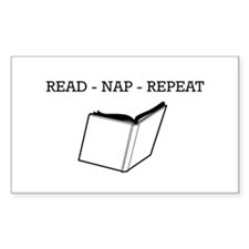 Read, nap, repeat Decal