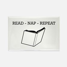 Read, nap, repeat Magnets