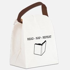 Read, nap, repeat Canvas Lunch Bag