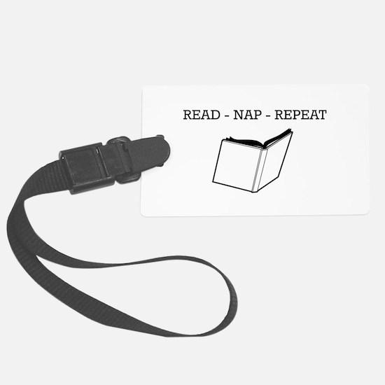 Read, nap, repeat Luggage Tag