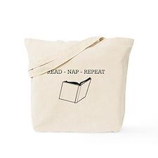 Read, nap, repeat Tote Bag